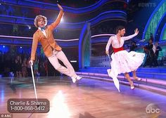 Getting air: Charlie White and Sharna Burgess gave a spirited performance to Supercalifragilisticexpialidocious from Mary Poppins