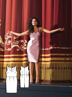 V-Neck Dress (Plus Size) 07/2011 #burdastyle #sewing #sewingpattern #dresspattern #garmentsewing #sew