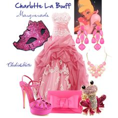 Charlotte La Bouff Masquerade, created by cheshirehatter on Polyvore