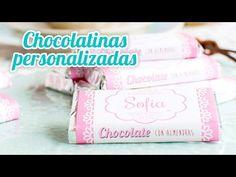 Chocolatinas personalizadas - Idea rápida   #14 Mesa dulce para Baby Shower   Quiero Cupcakes! - YouTube