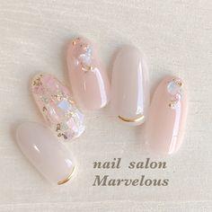 Korean Nail Art, Korean Nails, Almond Acrylic Nails, Best Acrylic Nails, Pretty Nail Art, Cute Nail Art, Kawaii Nail Art, Almond Nails Designs, Jelly Nails