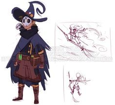 Witchsona Sketches by NightHead on DeviantArt Fantasy Character Design, Character Design Inspiration, Character Concept, Character Art, Concept Art, Dnd Characters, Fantasy Characters, Dungeons And Dragons, Dibujos Cute