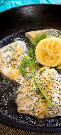 Skinny Lemon Tilapia  http://www.skinnymom.com/the-supper-club-by-skinny-mom/