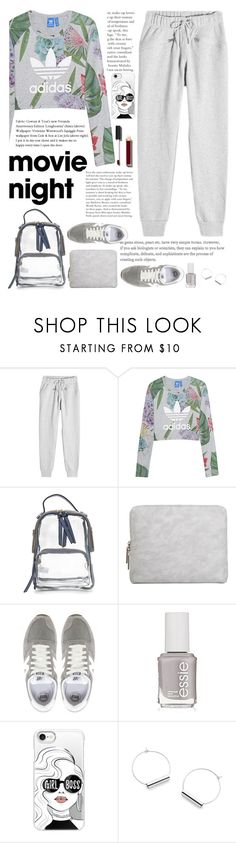 """night to nigth "" by licethfashion ❤ liked on Polyvore featuring adidas, adidas Originals, 3.1 Phillip Lim, New Balance, Essie, Casetify, Chanel and licethfashion"