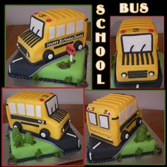 School Bus Cake - for my friend Janine..she loves her bus.