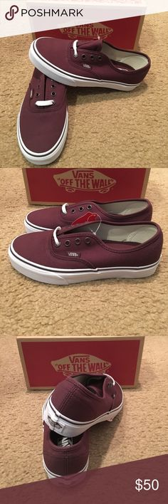 Authentic Vans New in box. Iron Brown/True White Vans Shoes Sneakers