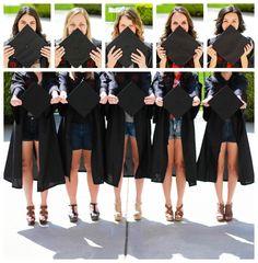 Chapman University senior graduation cap & gown collage!