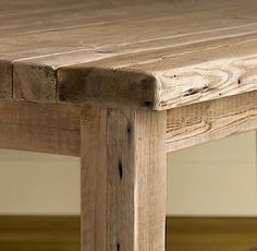 Barnwood table - I like this joint work and design