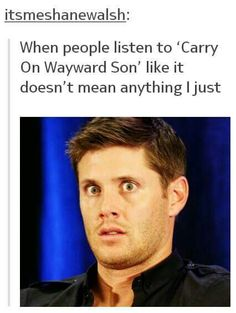 The song tells a story... one that fits in perfectly with the winchesters