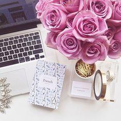 gorgeous desk scene (via steph sterjervoski/ this is glamorous)