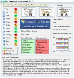 Tong Shu Almanac for Tuesday 10th October 2017 Hi everyone, I hope you are all well. Here is the Free Feng Shui Tong Shu Almanac for Tuesday 10th October 2017. Wishing you a great day, Daniel How to use the Tong Shu Almanac 28 constellations -This is a powerful date selection method giving fortunate and avoidable tasks on a daily basis. Monthly and annual flying stars – this chart displays the annual (right) and monthly (left) flying star locations. Yearly, monthly and daily pillars –…