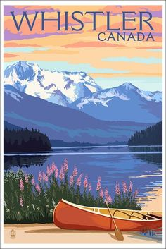 Grand Teton National Park, Wyoming - Colter Bay - Lantern Press Artwork (Art Print Available) Us National Parks, Grand Teton National Park, Photo Vintage, Parcs, Vintage Travel Posters, Retro Posters, Wyoming, White Wood, Black Wood