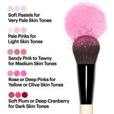Bobbie Brown's guide to choosing blush shades.