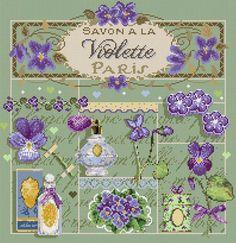 Savon à la Violette Cross Stitch