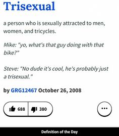 Trisexual definition