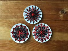 Matariki stars - cardboard and wool activity for the year 3 class I help out in