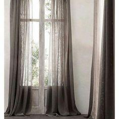 cortinas de lino sencillez y refinamiento cortinas pinterest - Cortinas Lino