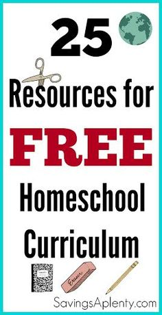 Did you know you can homeschool for FREE? No need to pay for an expensive curriculum with this awesome list of 25 resources for FREE Homeschool Curriculum!