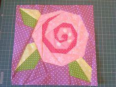 Paper piecing rose