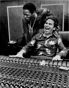 """Al Green (standing) and """"Pops"""" Willie Mitchell at the engineering controls! Al Green, Let's Stay Together, 60s Music, Soul Funk, Memphis Tennessee, Sweet Soul, Still In Love, Aretha Franklin, Soul Music"""