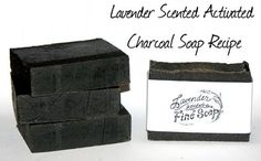 How to Make Natural Handmade Facial Soap - DIY Cold Process Activated Charcoal Soap Recipe with Blue Green Algae, Lavender and Tea Tree - Plus Printable Cigar Band Soap Labels