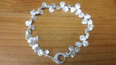 Pretty White Pearl and Sterling Silver by PataSilverDesign on Etsy