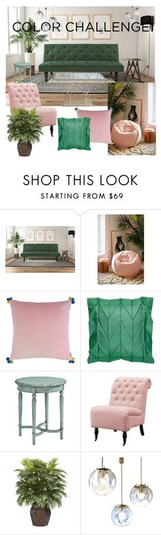 """""""color challenge"""" by myla-imc ❤ liked on Polyvore featuring interior, interiors, interior design, home, home decor, interior decorating, Avenue Greene, Urban Outfitters, Bluebellgray and Magnolia Home"""