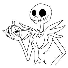 Jack Skellinton Coloring Pages See Site For Others From Nightmare BC Pumpkin