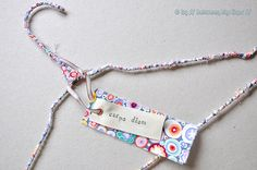 DIY Colorful Wire Clothes Hanger madeover with Bias Tape TUTORIAL....No use hanging your SpecIals on Blah!!!!