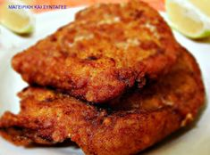 Turkey schnitzel with parmesan Parmesan, Cyprus Food, Eating Vegetables, Tandoori Chicken, Family Meals, Tasty, Meat, Dinner, Health