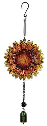 Sunset Vista Designs Metal and Glass Sunflower Bouncy Hanging Decoration *** Read more reviews of the product by visiting the link on the image.
