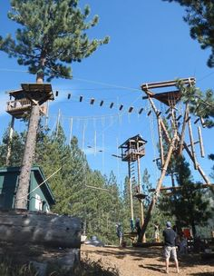 Ropes course adventure in Tahoe