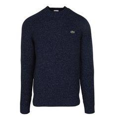 LACOSTE Pull Lacoste regular-fit logo en laine Bleu