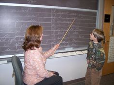Why chalk boards? They provide more feedback than a dry erase marker board, making them easier to write on.