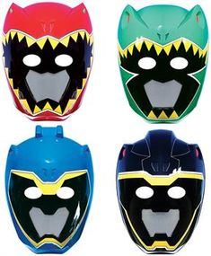 PartyBell.com - Power Rangers Dino Charge Paper Masks (8)