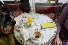 Breakfast at Cafe de Flore with SPACE Designer Daniela Villegas at PFW