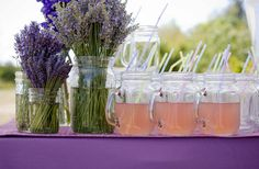 I had lavender bushels and mason jars at our wedding.  Maybe a repeat is in order for our renewal.