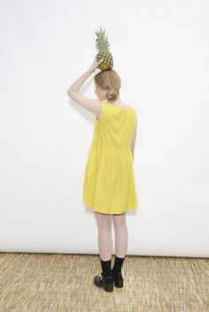 Sleeveless Angel Dress Yellow  http://www.thewhitepepper.com/collections/new-in/products/sleeveless-angel-dress-yellow