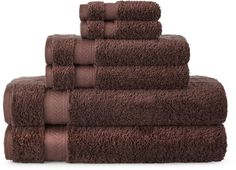 ROYAL VELVET Royal Velvet Luxury Egyptian Cotton Loops 6-pc. Bath Towel Set
