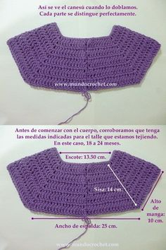 Como tejer un saco, campera, cardigan o chambrita a crochet o ganchillo desde el This will work to start some of the dresses with no patterns. Cardigan Au Crochet, Cardigan Bebe, Crochet Yoke, Easy Crochet, Crochet Stitches, Crochet Patterns, Crochet Hats, Crochet Jacket, Crochet Ideas