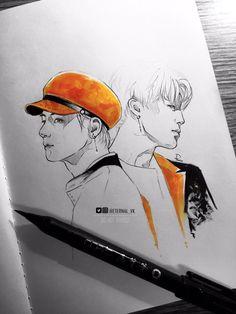 Kim Taehyung | Park Jimin | BTS fanart