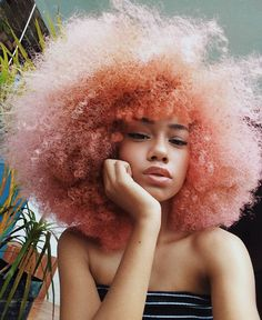 pink hair don& care - hair ideas - hair color - hairstyles - natural hair - afro - hair inspiration - - Curly Hair Styles, Natural Hair Styles, Natural Curls, Natural Black Hair, Natural Beauty, Pelo Afro, Pretty Hairstyles, Black Hairstyles, Afro Hair Hairstyles