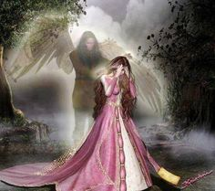 Angel of death Angels Among Us, Angels And Demons, Twin Flame Love, Ange Demon, Angel Pictures, Guardian Angels, Angel Art, Light In The Dark, Fantasy Art
