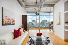 SoHo Starwood Lofts - #705 | Toronto LOFTS Concrete Posts, Exposed Concrete, Toronto Lofts, Concrete Ceiling, Lofts For Rent, Soho Loft, Floor To Ceiling Windows, Window Wall, Workout Rooms