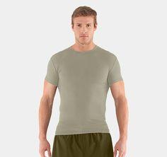MEN'S TACTICAL HEATGEAR®  COMPRESSION SHORTSLEEVE   T-SHIRT Desert Sand $24.99