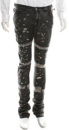Balenciaga Distressed Linen Jeans