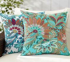 Pottery Barn Cecily Paisley Indoor/Outdoor Pillow