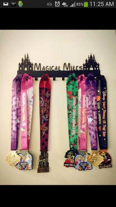 Run Disney medal display