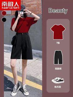 Kpop Fashion Outfits, Girls Fashion Clothes, Edgy Outfits, Outfits For Teens, Cool Outfits, Girl Fashion, Korean Outfit Street Styles, Korean Fashion Casual, Korea Fashion