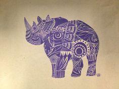 Rhino art drawing